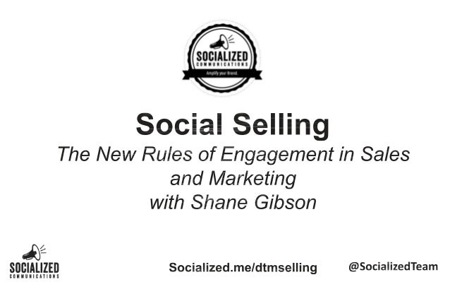 Social Selling and Social CRM Seminar with Shane Gibson