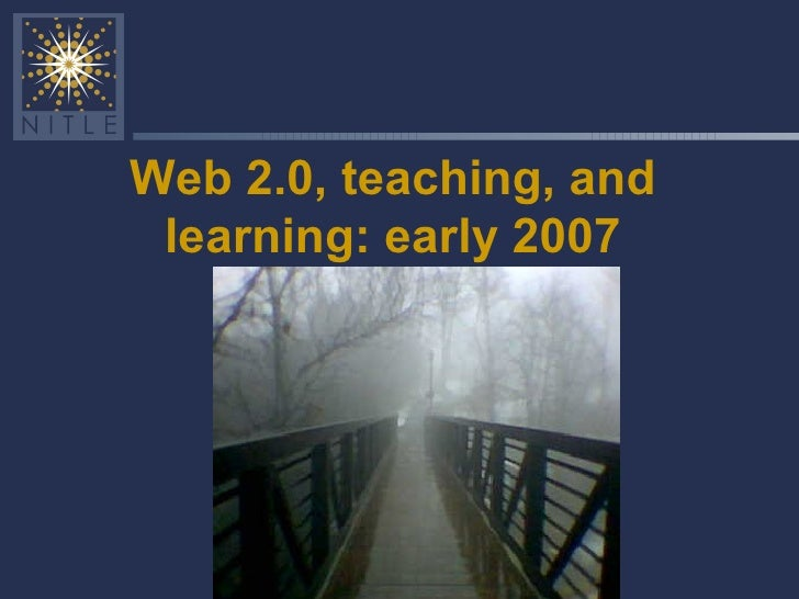 Social software in education: an early 2007 overview