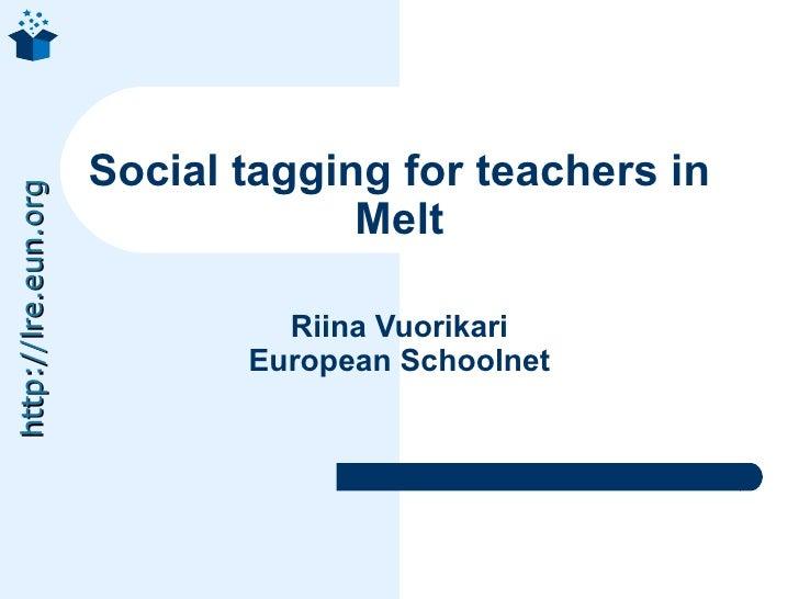 Social tagging for teachers