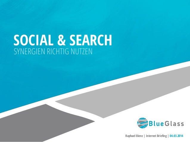 Social und Search - Synergien richtig nutzen