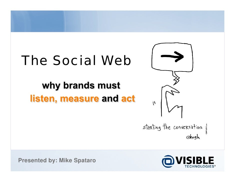 The Social Web. Why Brands Must Listen, Measure and Act v2.0