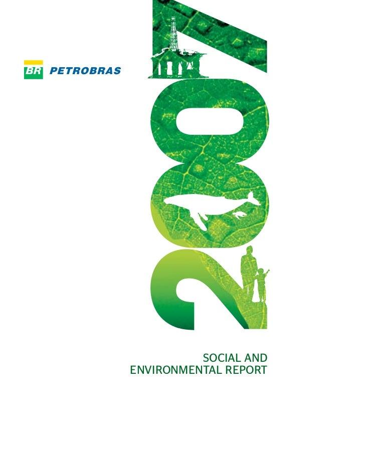 SOCIAL AND ENVIRONMENTAL REPORT