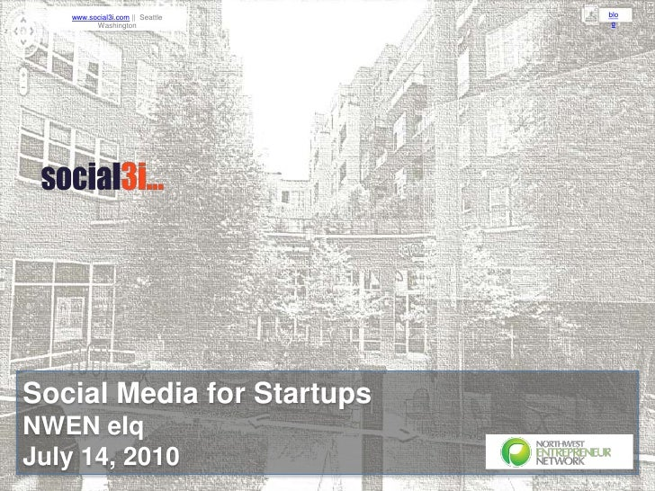 Social3i-NWEN-Social Media for Startups-July2010