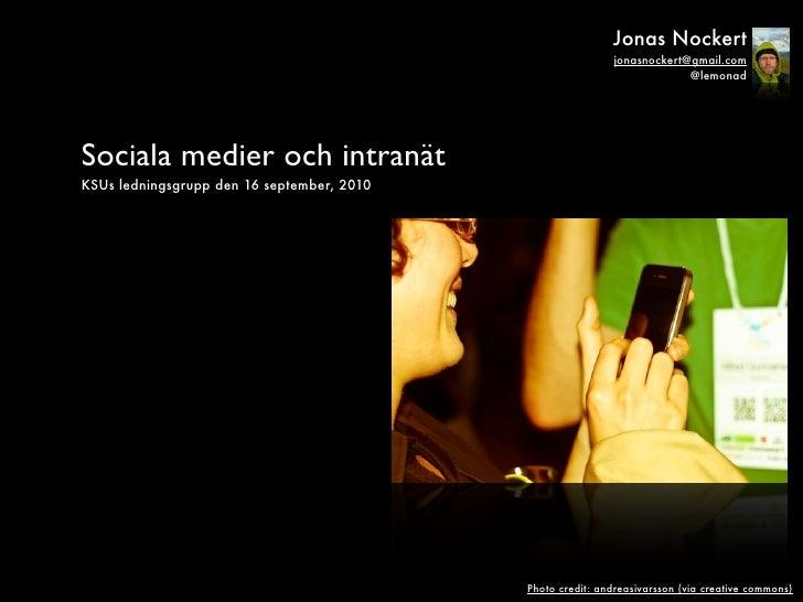 Sociala medier och intranät