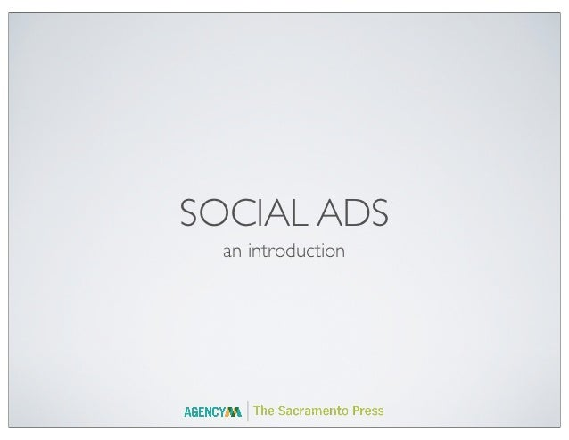 SOCIAL ADS  an introduction