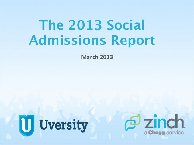 2013 Social Admissions Report