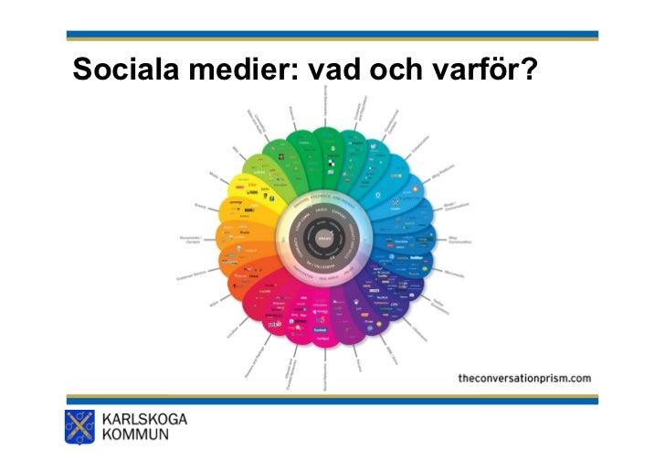 Sociala medier: vad och varför?