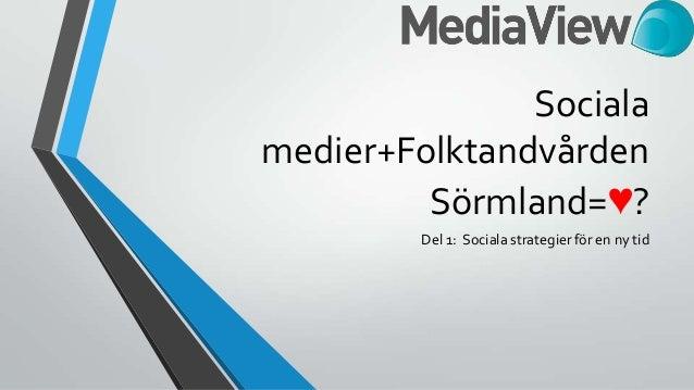 Sociala medier folktandvårdensörmland