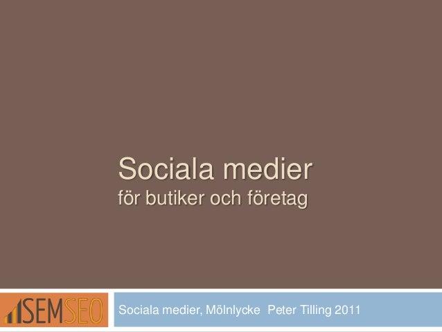 Sociala medier for butiker foretag