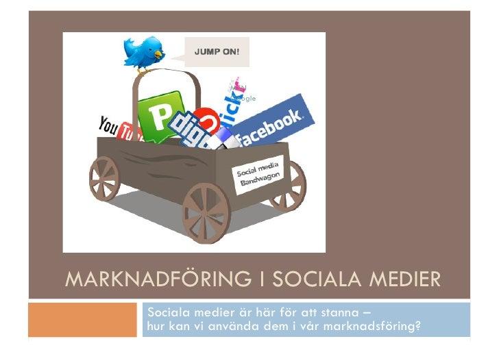 MSN                   Google                            mera.MARKNADFÖRING I SOCIALA MEDIER      Sociala medier är här för...