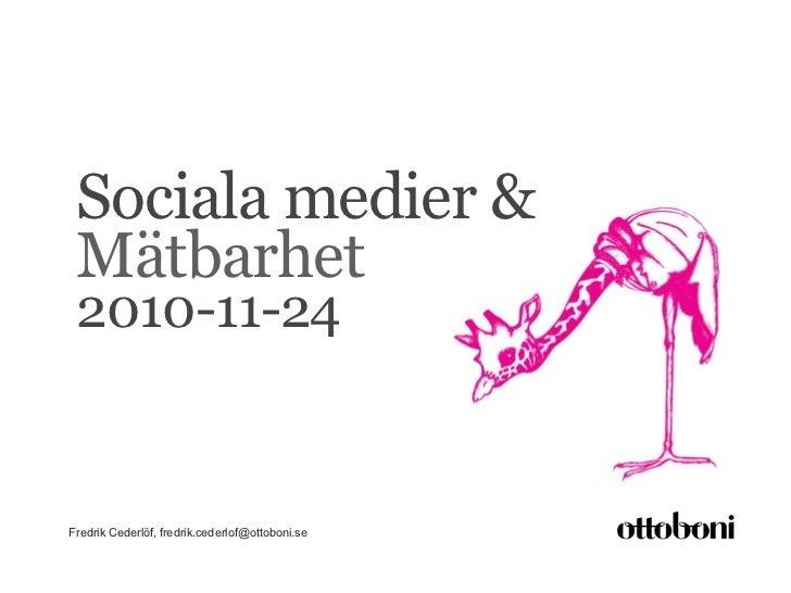 Sociala medier och mätbarhet