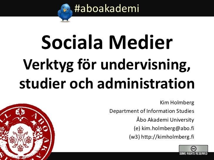 Sociala medier i undervisning
