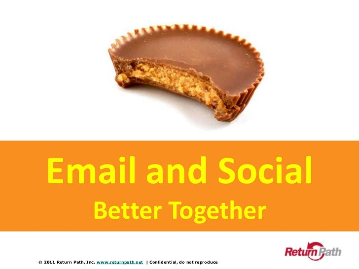 Email and Social<br />Better Together<br />© 2011 Return Path, Inc. www.returnpath.net  | Confidential, do not reproduce<b...