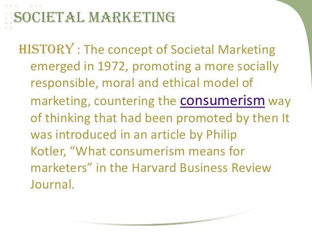social responsibility consumerism and the marketing Consumerism and marketing ethicspptx consumerism & marketing ethics corporate social responsibility the responsibility of.