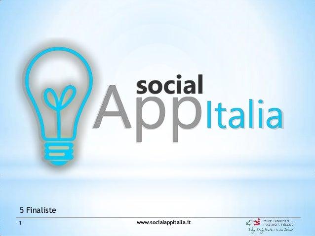Social App Italia - Le 5 finaliste
