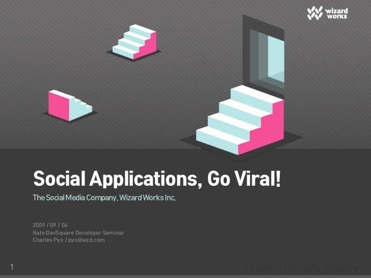 Social Applications, Go Viral!     The Social Media Company, Wizard Works Inc.       2009 / 09 / 04     Nate DevSquare Dev...