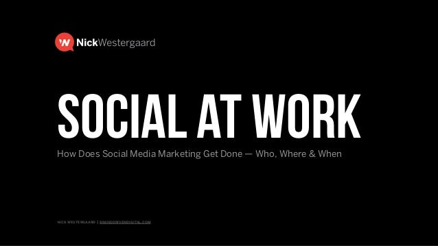 nick westergaard | branddrivendigital.com | 2015 BRAND DRIVEN digital Social Media at Work: Who, Where, & When? Answering ...
