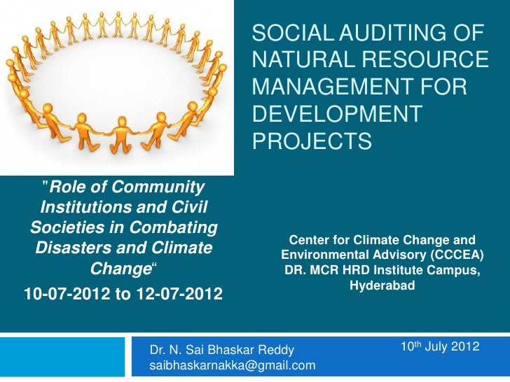 SOCIAL AUDITING OF                              NATURAL RESOURCE                              MANAGEMENT FOR              ...