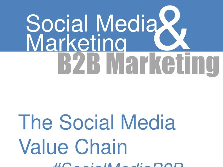 Marketing &Social Media   B2B MarketingThe Social MediaValue Chain