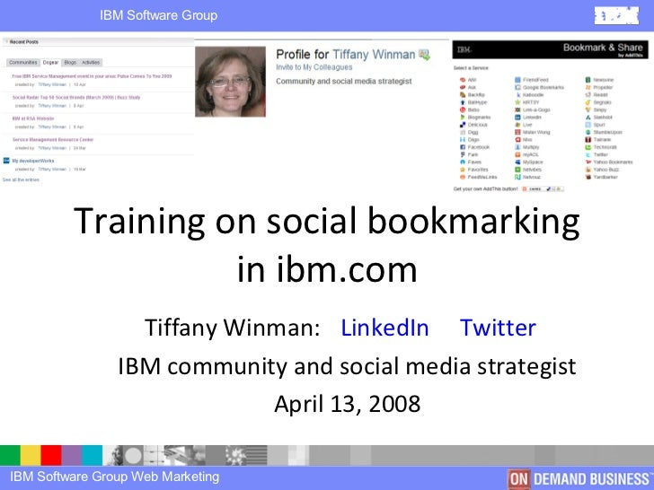Training on social bookmarking in ibm.com