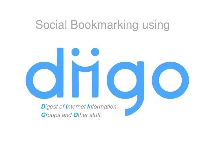 Social Bookmarking Using Diigo