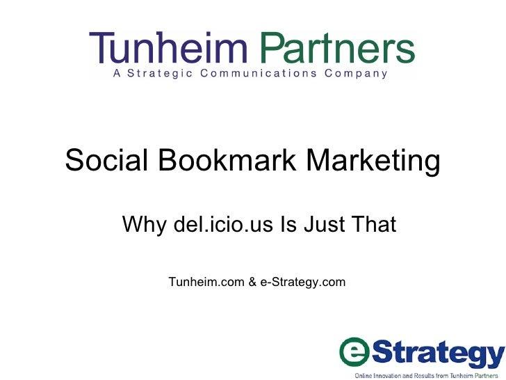 Social Bookmark Marketing With del.Icio.us