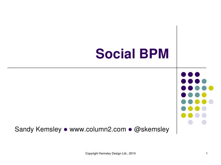 Social BPM<br />1<br />Copyright Kemsley Design Ltd., 2010<br />