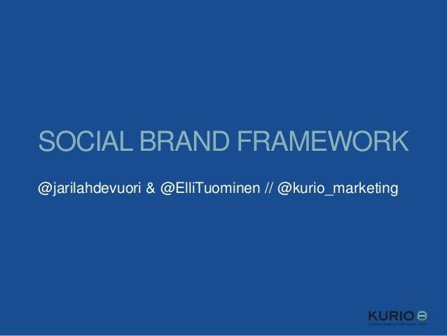 SOCIAL BRAND FRAMEWORK @jarilahdevuori & @ElliTuominen // @kurio_marketing