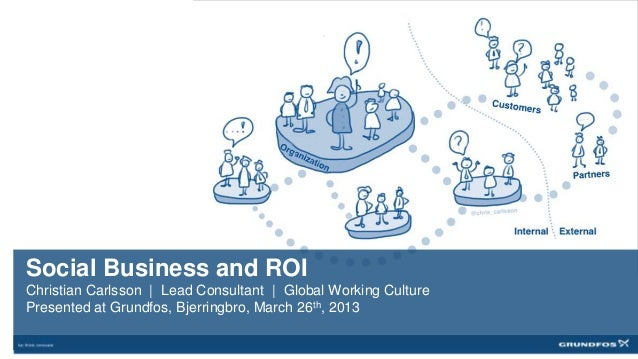 Social Business and ROIChristian Carlsson   Lead Consultant   Global Working CulturePresented at Grundfos, Bjerringbro, Ma...