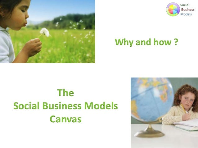 Why and how ?  The Social Business Models Canvas
