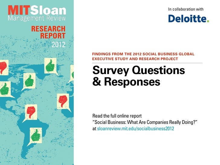 Social Business: What Are Companies Really Doing? - Survey Questions and Answers