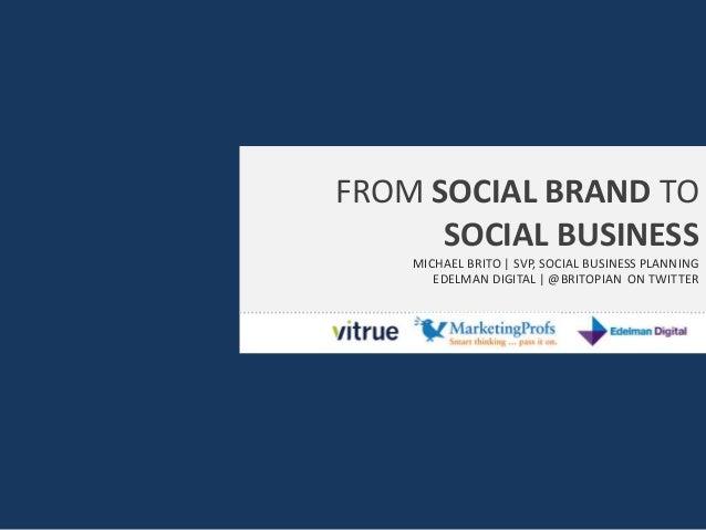 Social business webinar for marketing profs