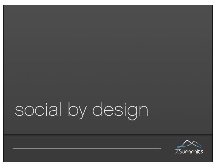 social by design