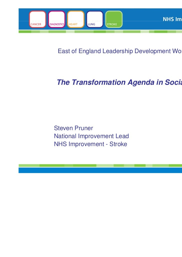 Social Care Policy Slides For Eo E Leadership Programme