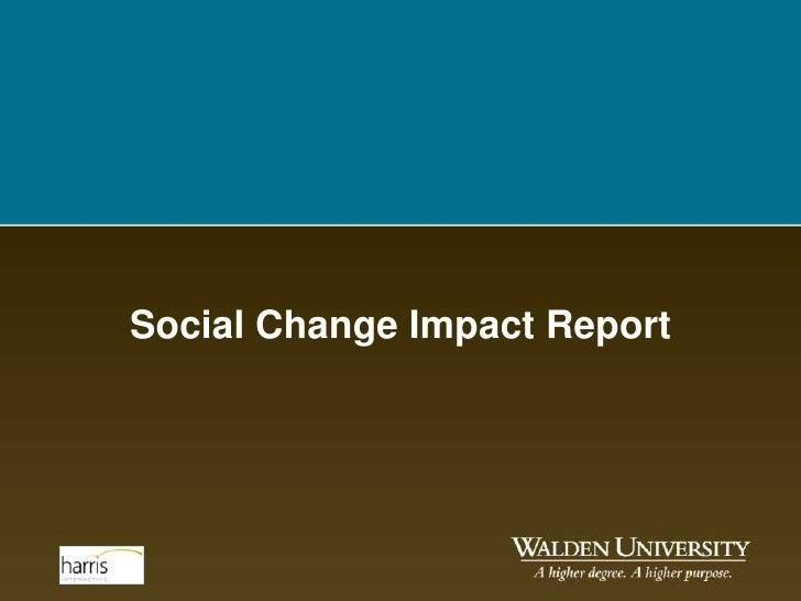 Social Change Impact Report - September 2011