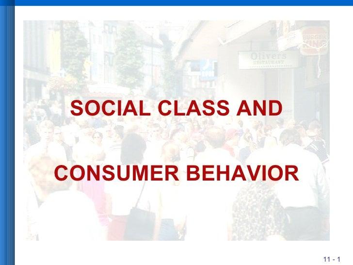 SOCIAL CLASS AND CONSUMER BEHAVIOR