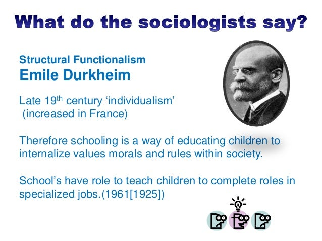 functionalists view on bullying How do the three sociological perspectives view homeschooling functionalism, conflict theory, and interactionism i am.