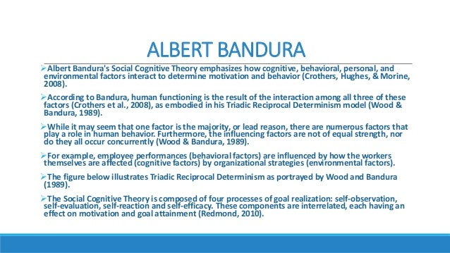 banduras cognitive theory essay Read albert bandura essays and research papers view and download complete sample albert bandura essays, instructions, works cited pages, and more.