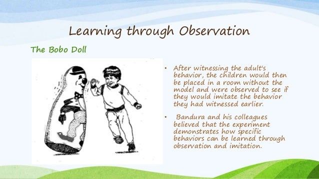 children learn through observation