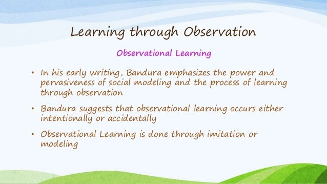 bandura modeling and observational learning essay