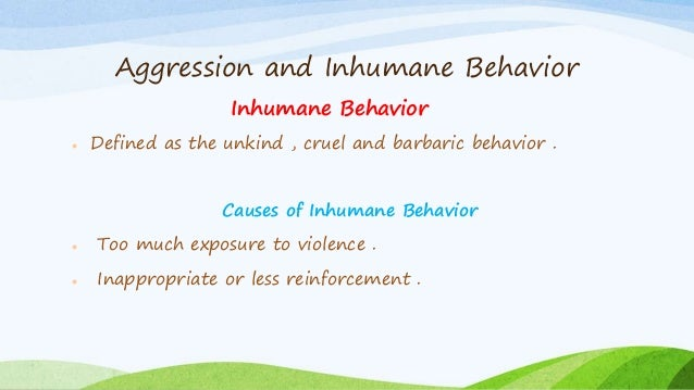 theories of aggression an introduction Introduction the occurrence of early childhood abuse and neglect 4 theory found that women who reported increases the likelihood of modeled abuse behavior.