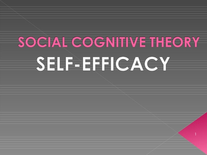 SME 604 - Social Cognitive Theory (Self-Efficacy)