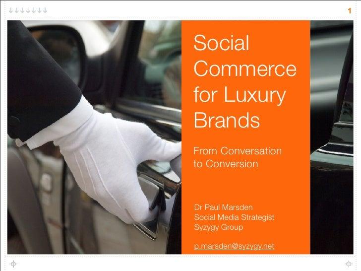 Social Commerce for luxury