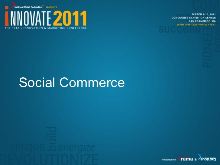 Social Commerce - Innovate 11