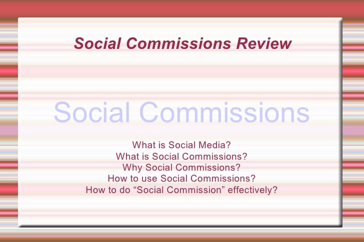 Social Commissions Review