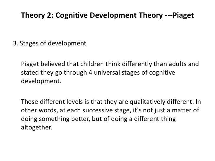 cognitive theory plan essay Piaget essay plan piaget exam essay  he further nominated a four-stage system to explain his cognitive theory in context the first stage is the sensori-motor.
