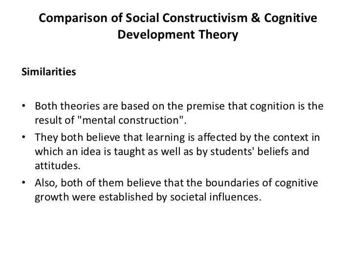 a comparison of the different theories of cognitive development The comparison and contrast of developmental theories nichole spiller psy 104: child and adolescent development instructor: sonja bethune monday, may 21, 2012 throughout time the development of psychology has had many different theorists but i would like to explore these three particular theories - the comparison and contrast of developmental theories introduction.