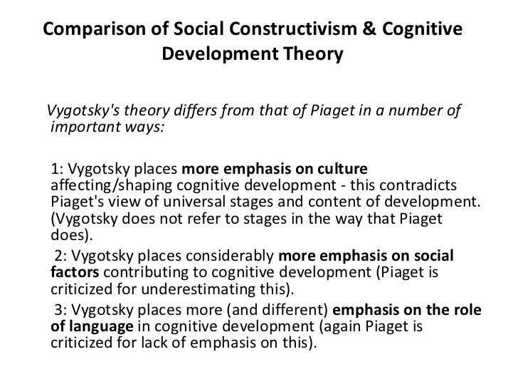 piaget vs. vygotsky essay Free essay: jean piaget and lev vygotsky both have very different yet similar  views about the child and tenets within their theoretical perspectives while.