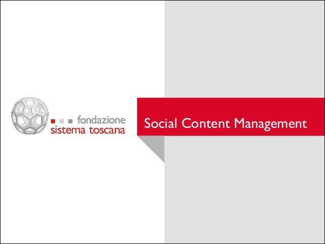 Social Content Management