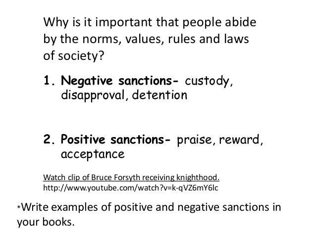 Positive Sanction Positive Sanctions Praise